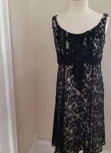Laura black sleeveless lace dress size 12
